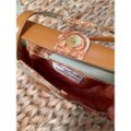 Kleinberg Sherrill Tote in Light Blue and Amber Image 4