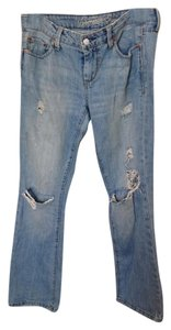 American Eagle Outfitters Distressed Boot Cut Pants Light wash denim