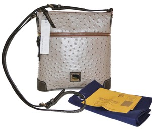 Dooney & Bourke Ostrich Leather Cross Body Bag