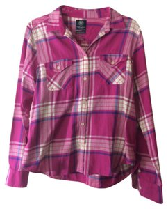 American Eagle Outfitters Button Down Shirt Pink