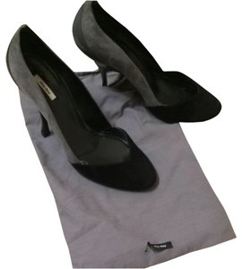 Miu Miu Black & Grey Pumps