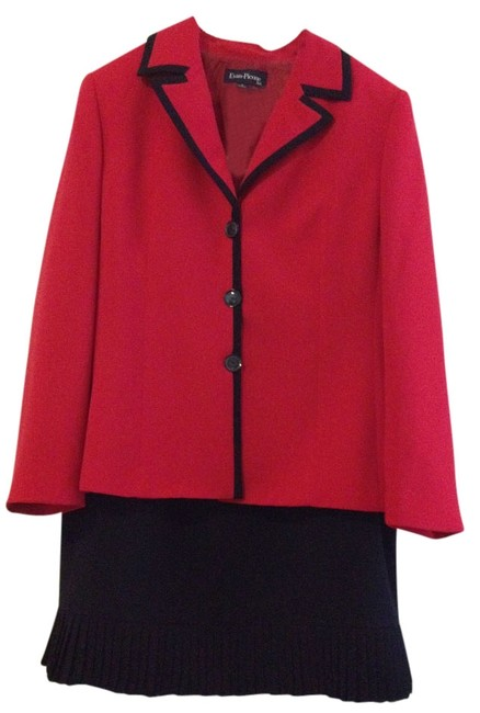 Item - Red and Navy Power Skirt Suit Size 18 (XL, Plus 0x)