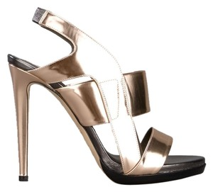 Reed Krakoff Heels Leather Rose Gold Sandals