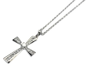 New Dazzling Stainless Steel Trendy Cross Pentant Necklace with Swarovski Crystals