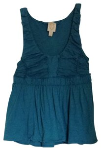 Anthropologie Standout Style Top Blue Teal