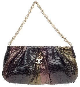 Chanel Pochette Python Shoulder Bag