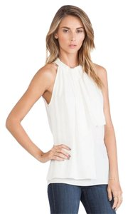 Trina Turk Womens Karine Sleeveless Large Polyester Cute Women's Karine Sleeveless Size Large Top ivory White