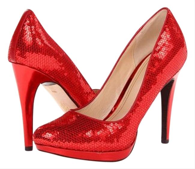 Item - Sequence Red Chelsia High Pump Platforms Size US 8.5 Regular (M, B)