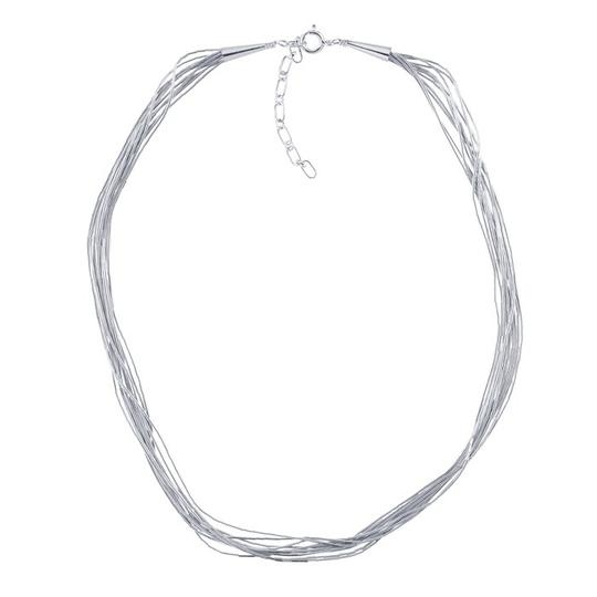 """Other 16"""" """"Liquid Assets"""" Sterling Silver Liquid Silver 10-Strand Necklace, Adjustable by BrianGdesigns"""