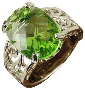 Other New Size 7, Green Amethyst Silver Ring