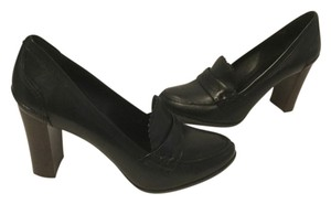 Pour La Victoire All Leather Black Pumps