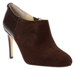 Michael Kors Shoe Heel Chocolate 6 Women Coffee Platforms