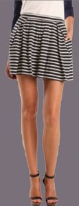 Tibi Stripes Stripe Skort navy and white