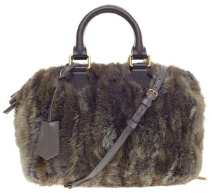 Louis Vuitton Speedy Limited Edition Mink Satchel