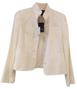 Brooks Brothers Linen Summer Jacket Resort White Blazer