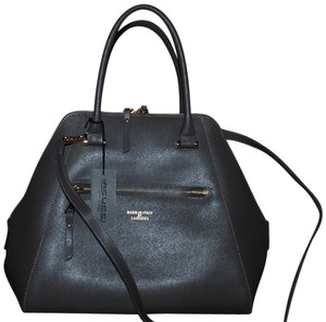 IACUCCI Saffiano Leather Made In Italy Satchel in Gray