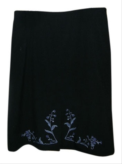 Preload https://item2.tradesy.com/images/ann-taylor-loft-skirt-black-with-blue-embroidery-1105046-0-0.jpg?width=400&height=650