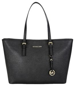 Michael Kors Jet Set Travel Tote] Tote in black