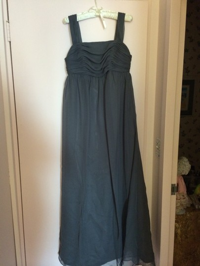Saison Blanche Pewter Formal Bridesmaid/Mob Dress Size 8 (M)