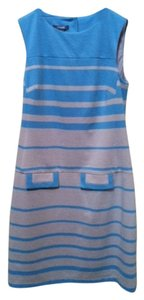 Muse short dress taupe and turquoise on Tradesy