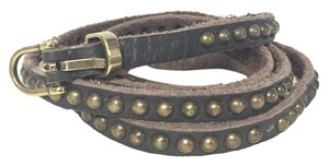 Zadig & Voltaire Zadig & Voltaire Jessy Brown Studded Leather Belt