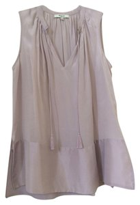 Madewell Silk Swing Tassels Sleeveless Top Dusty Lavendar