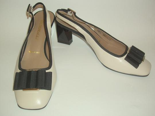 Bruno Magli Beige and Black Flats