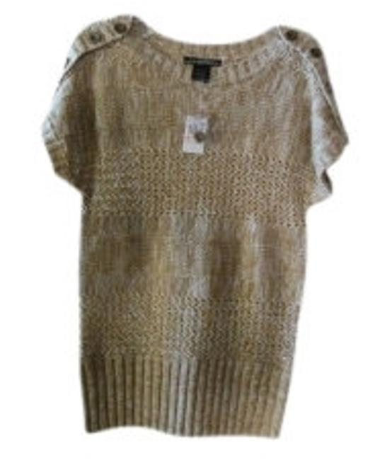 Preload https://img-static.tradesy.com/item/11052/beige-and-tan-short-sleeved-sweaterpullover-size-8-m-0-0-650-650.jpg