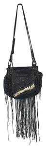 AllSaints Tribal Fringe Beaded Shoulder Bag