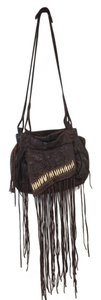AllSaints Beaded Fringe Tribal Shoulder Bag