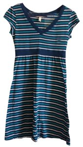 Aeropostale short dress Blue V-neck Striped on Tradesy