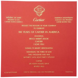 Cartier Cartier Party Invitation Rodeo Drive Beverly Hills