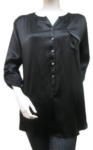 Lilla P Silk Top Black