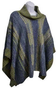 J. Jill Striped Generous Fit Poncho Sweater