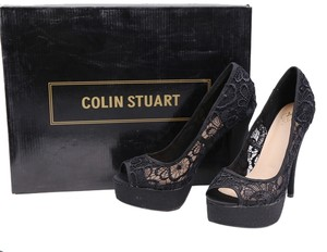 Colin Stuart Lace Lace Black Platforms