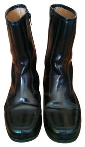 Topshop 100% Leather Leather Sole Black Boots