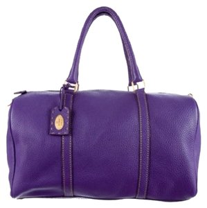 Fendi Leather Logo Monogram Imported Italian Purple Travel Bag