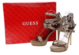 Guess Satin Platforms Dark Green Boots