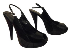 Chinese Laundry Heels Open Toe Black Pumps