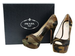 Prada Camo Platform Pump Calf Hair Came Platforms