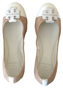 Tory Burch White and beige Flats