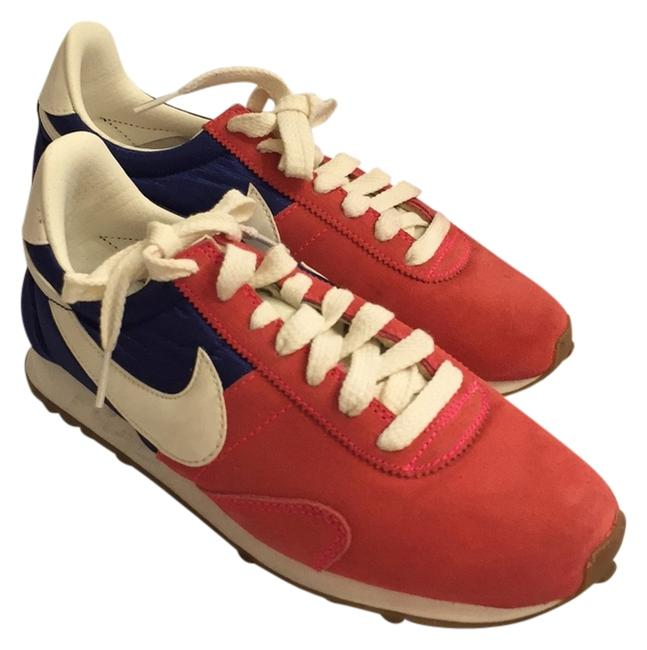 Item - Red White and Blue Suede Sneakers Size US 6.5 Regular (M, B)