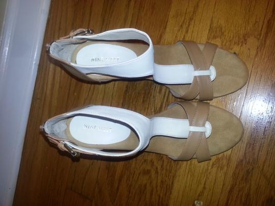 Nine West TAN/IVORY Sandals