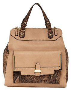 Jessica Simpson Margaret Brown Crossbody Tote in tan
