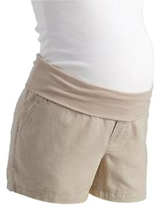 Old Navy NWT Old Navy Maternity Roll-Over beige linen blend shorts size Large NEW