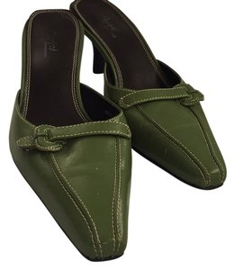 Preview International Dark green Mules