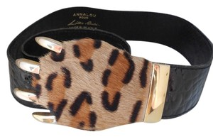 Annalou Annalou for Lillie Rubin Faux Leopard Belt