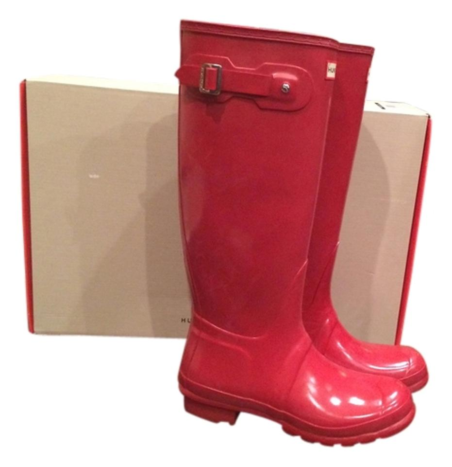 Hunter Women's Red Women's Hunter Tall Gloss Rainboots Boots/Booties ae591b