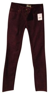 Free People Skinny Pants Sangaria (deep burgandy)
