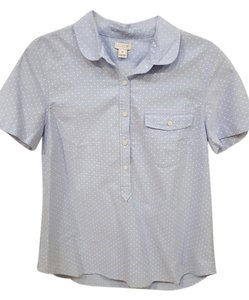 J.Crew Button Down Shirt Light blue and white